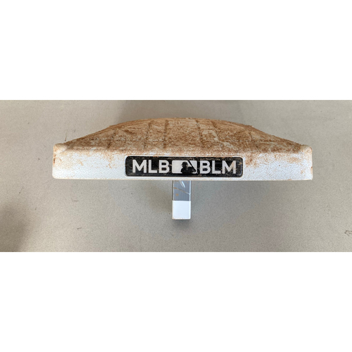 Photo of Game-used Base from July 24, 2020: Opening Day and Luis Robert's MLB Debut - 2nd Base