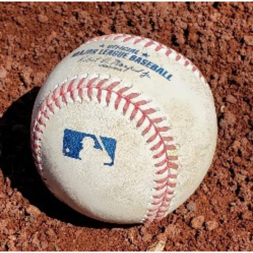 Photo of 2021 Phillies Game-Used Baseball - Jacob deGrom RBI Single (First RBI of Season)