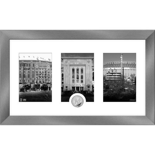 Photo of New York Yankees Art Deco Silver Coin Photo Mint
