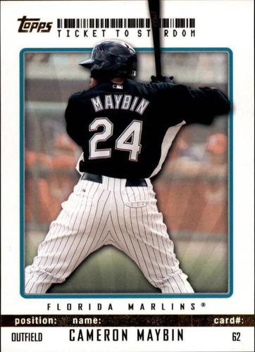 Photo of 2009 Topps Ticket to Stardom Gold #62 Cameron Maybin