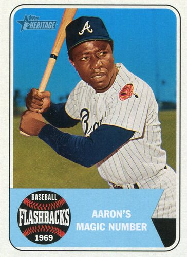 Photo of 2018 Topps Heritage Baseball Flashbacks #BFHA Hank Aaron