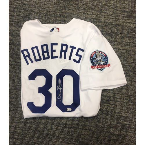 Photo of LADF Blue Diamond Gala Auction: Dave Roberts Authentic Autographed Jersey (Size 48)