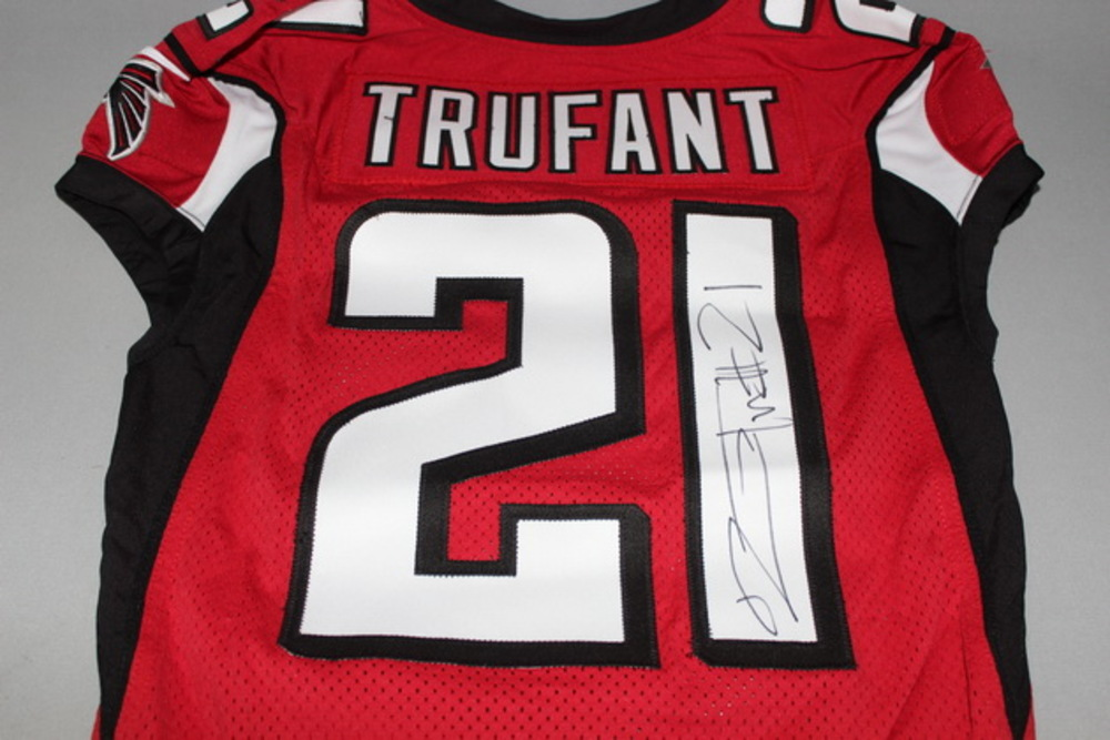 buy popular 6a942 46ffb NFL Auction   STS - Falcons Desmond Trufant signed and game ...