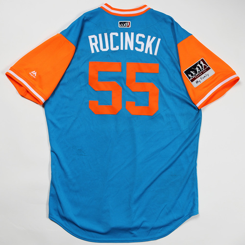 "Photo of Drew ""Rucinski"" Rucinski Miami Marlins Game-Used Jersey 2018 Players' Weekend Jersey"