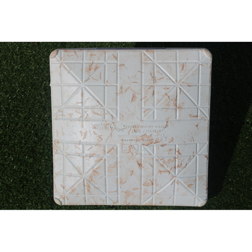 Photo of Game-Used 2nd Base: Chris Young 8th Season Double and Jorge Bonifacio 10th Season Home Run (Innings 6-9 - BOS @ KC - 6/20/17)