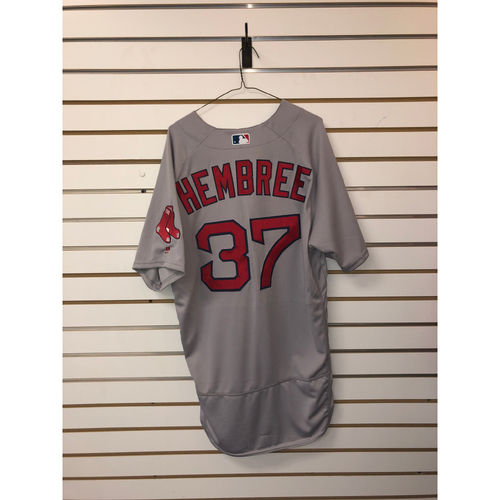 Photo of Heath Hembree Team-Issued 2018 Postseason Road Jersey