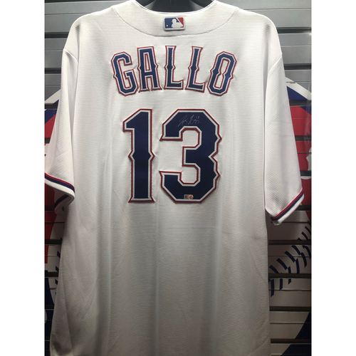Photo of Joey Gallo White Autographed Replica Jersey