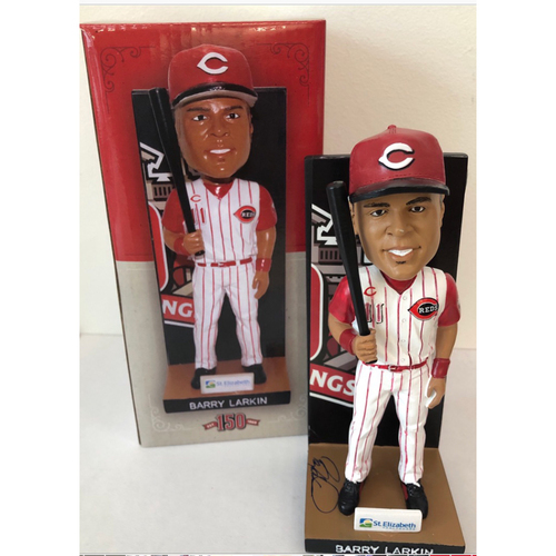 Photo of 2019 Barry Larkin Autographed Bobblehead