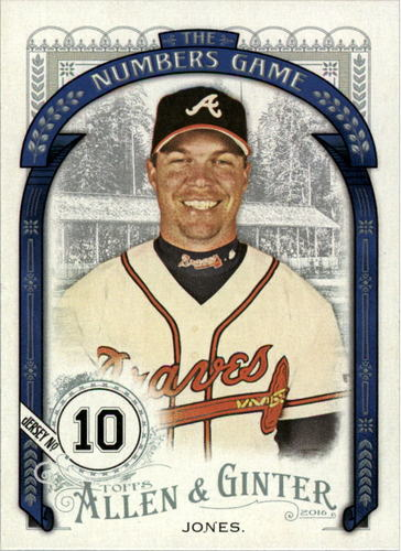 Photo of 2016 Topps Allen and Ginter The Numbers Game #NG30 Chipper Jones