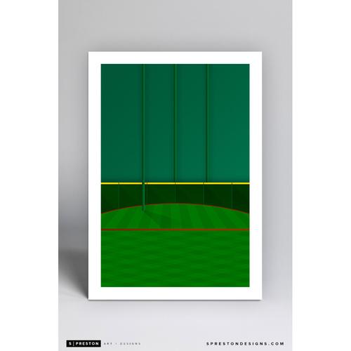 Minute Maid Park Tal's Hill- Minimalist Ballpark Art Print by S. Preston  - Houston Astros