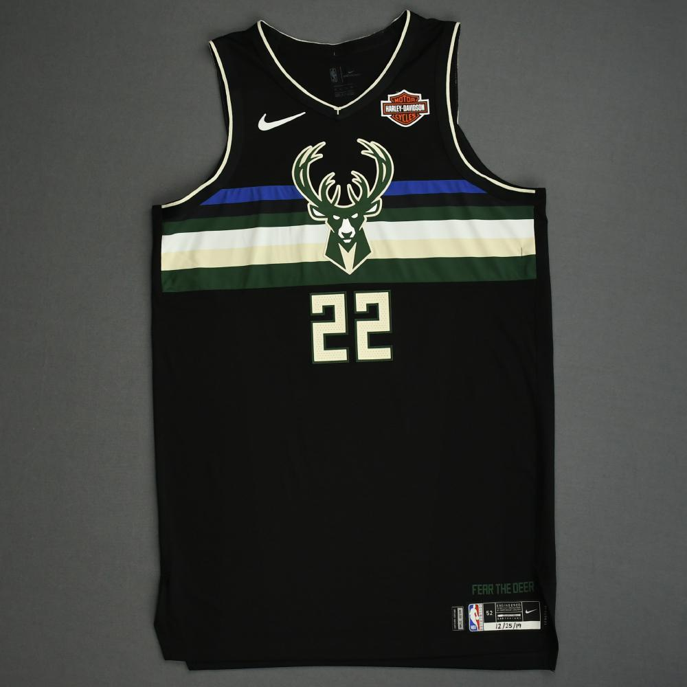 Khris Middleton - Milwaukee Bucks - Christmas Day' 19 - Game-Worn City Edition Jersey - Team High 31 Points