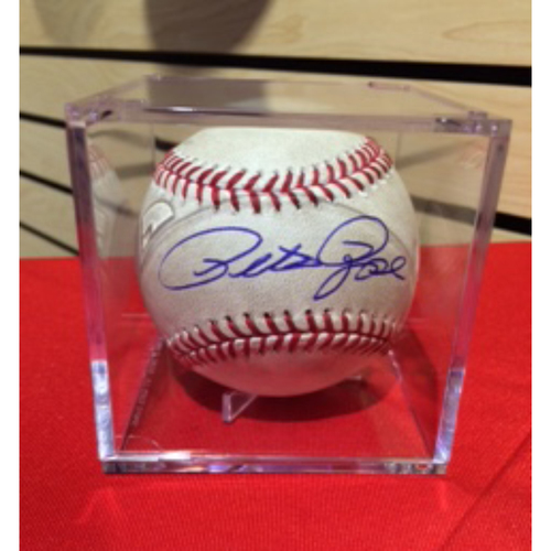Photo of Game-Used Baseball -- 06/24/2016 - SD vs. CIN - 3rd Inning - Reed to Ramirez (Foul) *14 Forever Autographed Pete Rose Baseball*