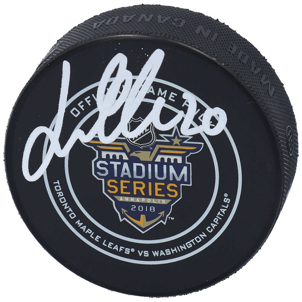Lars Eller Washington Capitals Autographed 2018 NHL Stadium Series Official Game Puck - NHL Auctions Exclusive