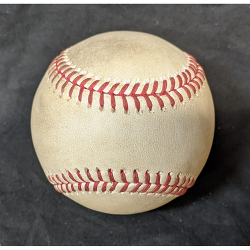 Photo of Game-Used Baseball: 8/7/20 Giants @ Dodgers: Batter Wilmer Flores, Pitcher Dennis Santana (Home Run)