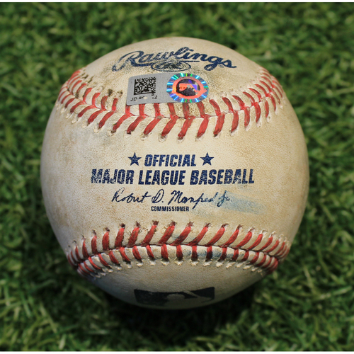 Photo of Game-Used Baseball: Jake Cave 133rd Career Hit (MIN @ KC 8/21/20)