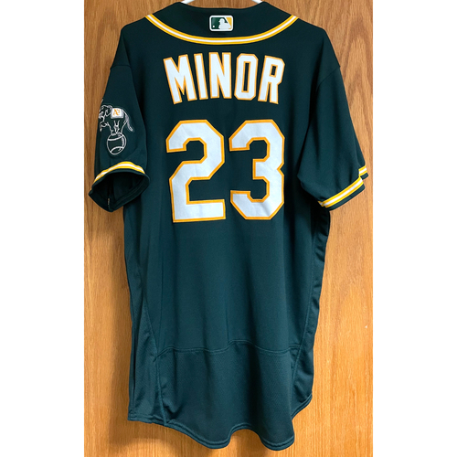 Photo of Mike Minor Game-Used 2020 Regular & Postseason Jersey