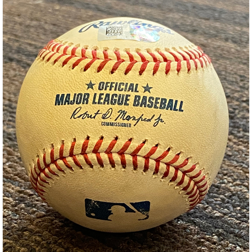 Photo of Cedric Mullins:  Ball - Game-Used -1st MLB game