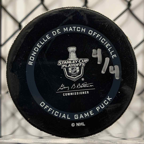 2021 SCP North Division Round 1 Game Used Puck (LE #4 of 4)