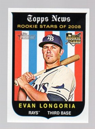 Photo of 2008 Topps Heritage #650 Evan Longoria RC