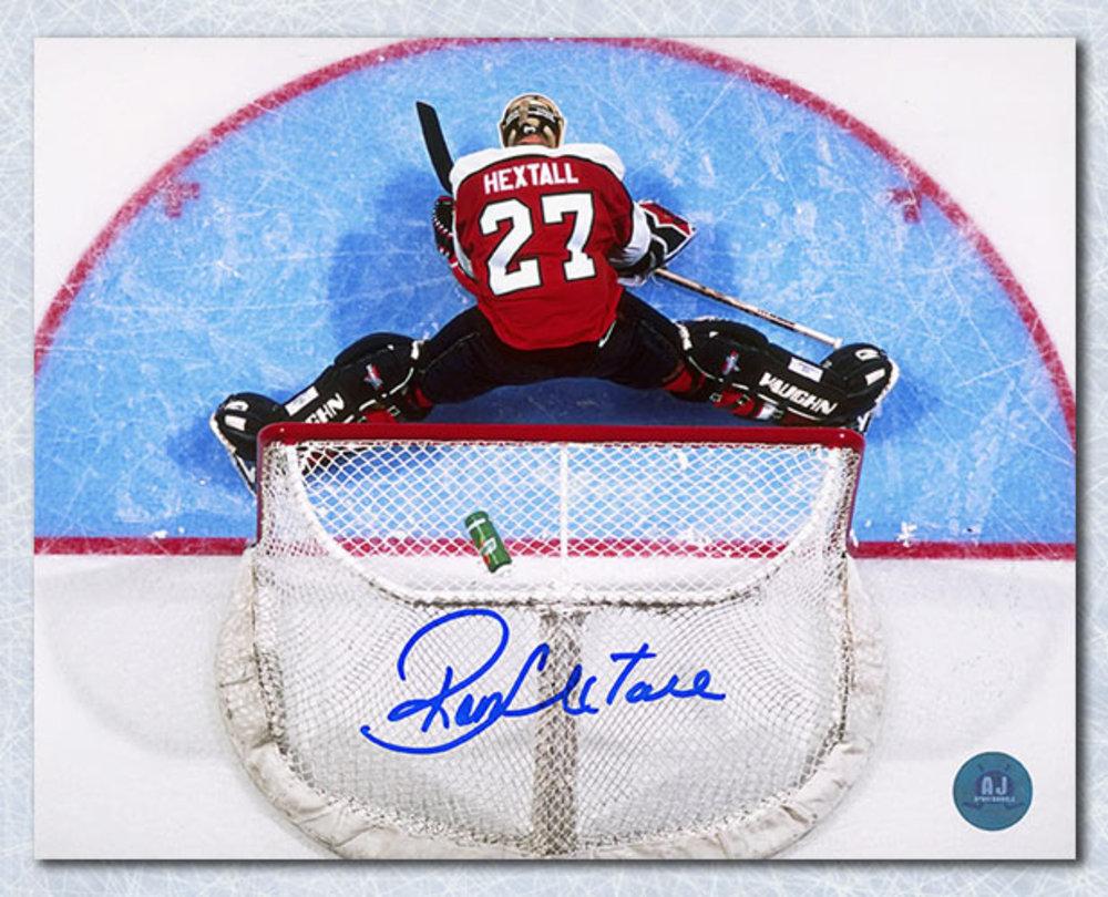 Ron Hextall Philadelphia Flyers Autographed Overhead Crease 8x10 Photo