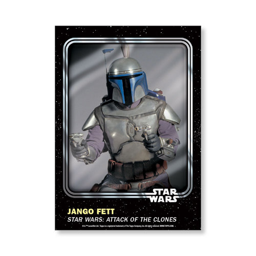 Jango Fett 2016 Star Wars Card Trader Base Poster - # to 99