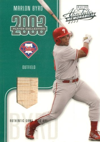 Photo of 2003 Absolute Memorabilia Player Collection #15 Marlon Byrd Bat