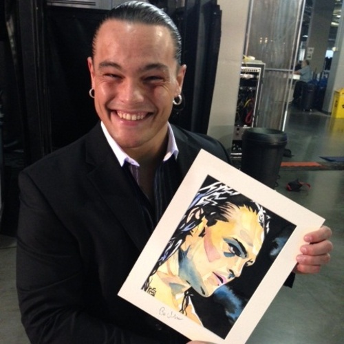 Bo Dallas Signed Painting by Rob Schamberger