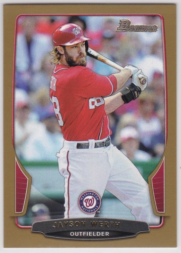 Photo of 2013 Bowman Gold #138 Jayson Werth