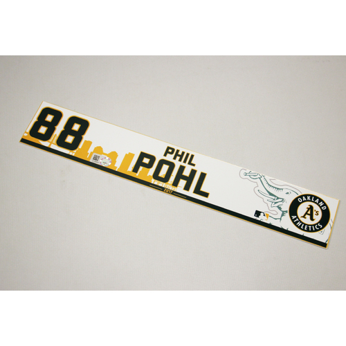 Phil Pohl 2017 Home Clubhouse Locker Nameplate