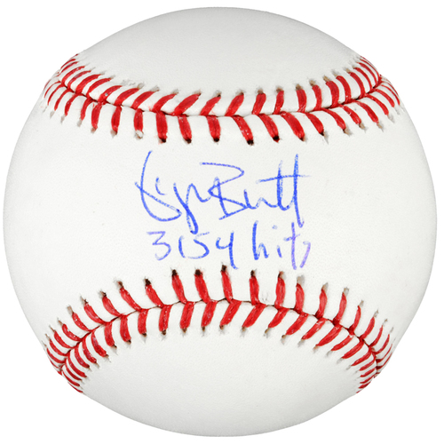 Photo of George Brett Kansas City Royals Autographed Baseball with 3154 Inscription