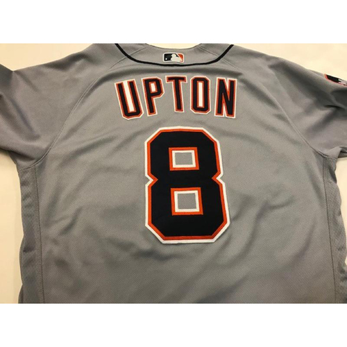 Photo of Game-Used Justin Upton Road Jersey
