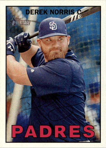 Photo of 2016 Topps Heritage #122 Derek Norris