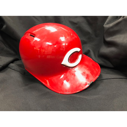 Photo of Michael Lorenzen -- Game-Used Helmet -- Authenticated to June 7, 2018 (First Hit of 2018 & June 24, 2018 (First Home Run of 2018)