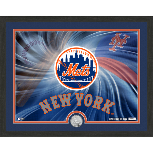 """Photo of New York Mets Pride 16""""x 20"""" Silver Coin Photo Mint"""
