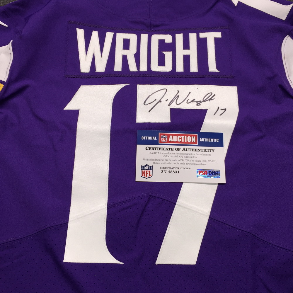 separation shoes 78867 8f2c3 NFL Auction | STS - Vikings Jarius Wright Signed and Game ...