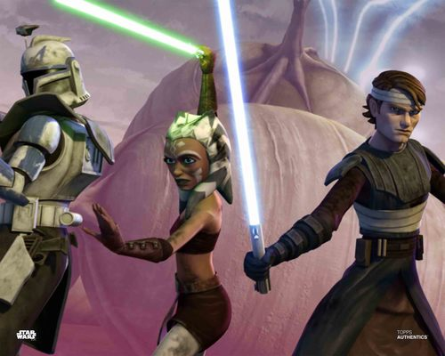 Anakin Skywalker, Ahsoka Tano and Captain Rex