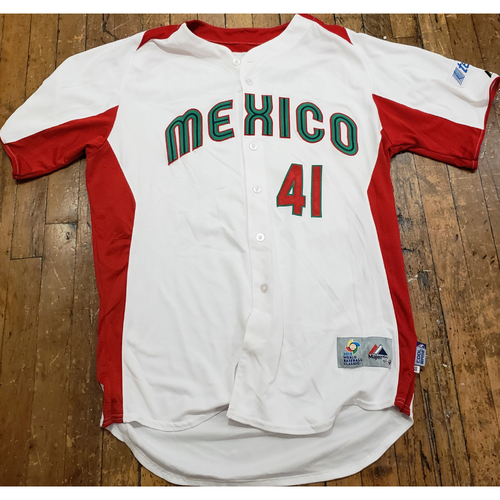 Photo of 2013 World Baseball Classic Game Used Jersey - Marco Estrada - Size 46 (Mexico)