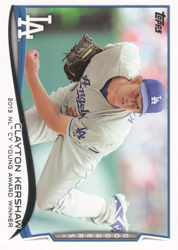 Photo of 2014 Topps #604 Clayton Kershaw