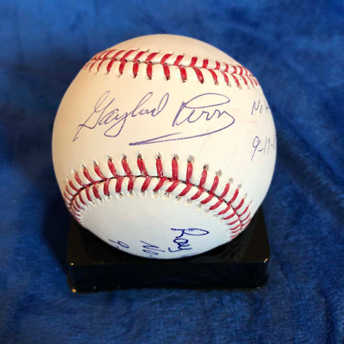 Photo of UMPS CARE AUCTION: Baseball Signed by Gaylord Perry and Ray Washburn