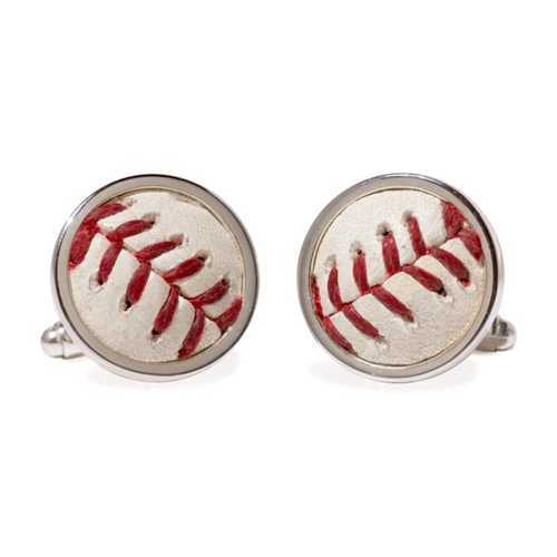 Photo of Tokens & Icons Texas Rangers Game Used Baseball Cuff Links