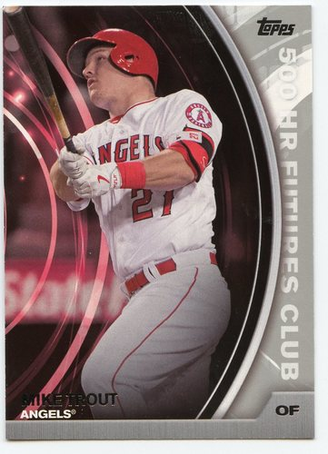Photo of 2016 Topps Update 500 HR Futures Club Silver #5005 Mike Trout
