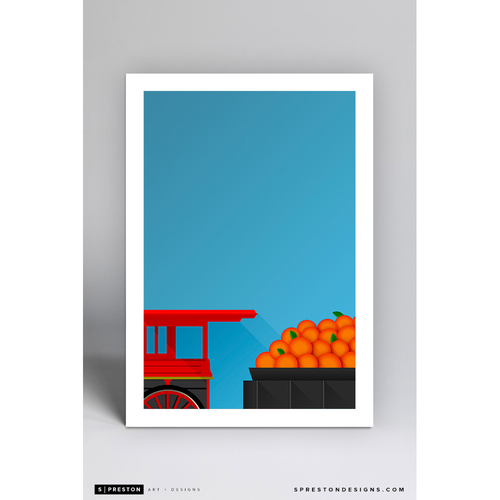 Photo of Minute Maid Park Train - Minimalist Ballpark Art Print by S. Preston  - Houston Astros