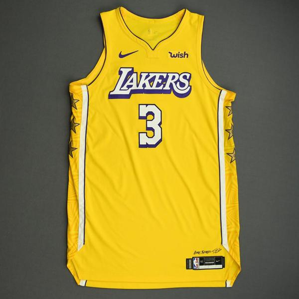 Image of Anthony Davis - Los Angeles Lakers - Christmas Day' 19 - Game-Worn City Edition Jersey - Scored 24 Points