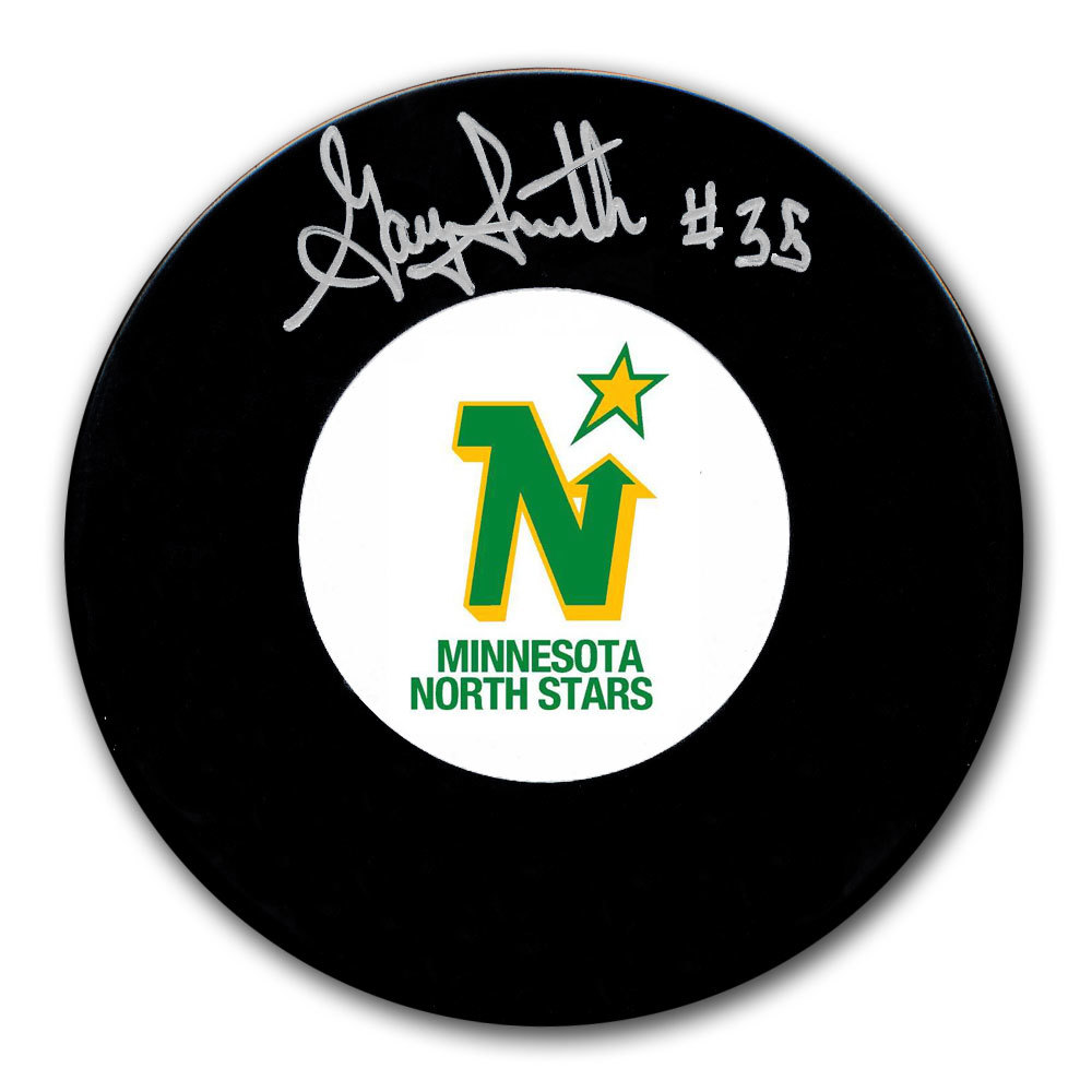 Gary Smith Minnesota North Stars Autographed Puck