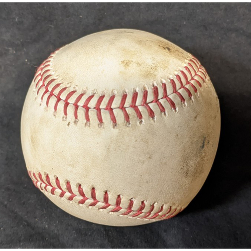 Photo of Game-Used Baseball: 8/8/20 Giants @ Dodgers: Batter Austin Slater, Pitcher: Clayton Kershaw (Home Run)