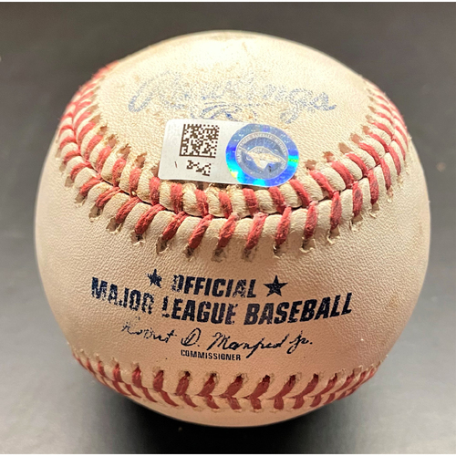 Photo of 2021 Opening Day Game-Used Baseball:  JaCoby Jones Detroit Tigers RBI Double (MLB AUTHENTICATED)