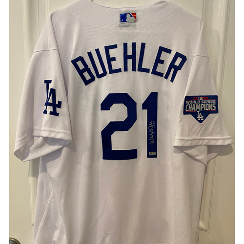 Photo of Walker Buehler Autographed Authentic Los Angeles Dodgers Jersey