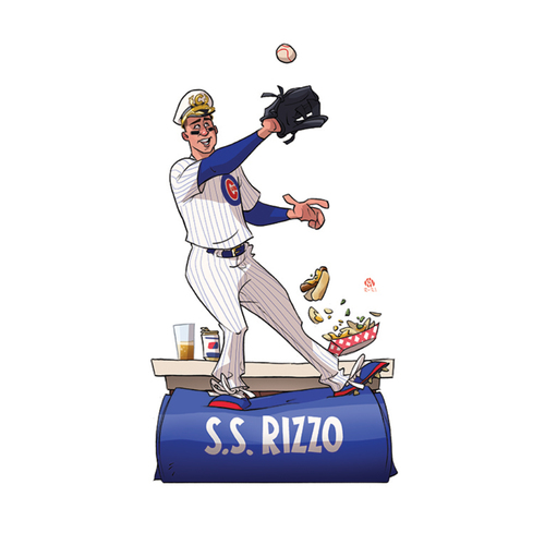 """Photo of Limited Edition Kev Roche """"Super-Hero"""" Prints -- Autographed by Anthony Rizzo"""