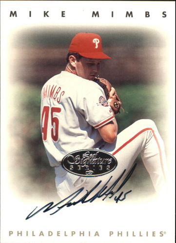 Photo of 1996 Leaf Signature Autographs Silver #157 Mike Mimbs