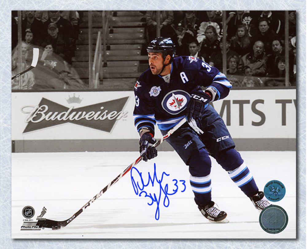 Dustin Byfuglien Winnipeg Jets Autographed Spotlight 8x10 Photo